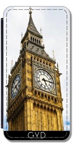 Leder Flip Case Tasche Hülle für Apple iPhone 6/6S - Big Ben by J McCool Lederoptik
