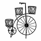 #2: GIG Black Medium Tricycle Planter without pots/Cycle Style Metal Stand Planter/Garden Pot