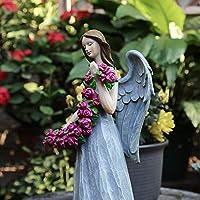 BEAUTYLE Garden Decoration outdoor American country gardening Resin figure little angel flower fairy