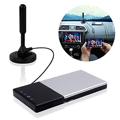 Auto TV Eempfänger DVB-T / T2 Super PDR Transmitter und Empfänger Cai Automobile TV Box Über Android 4.2 Digital TV Tuner Empfänger mit Antenne Geeignet für Auto / Zuhause /Draussen