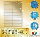 Setzkasten aus Acrylglas für Streichholzschachteln / Streichholzheftchen SL026 Rückwand Spiegel