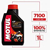 Motul 104091 7100 Ester 4T Fully Synthetic 10W-40 Petrol Engine Oil for Bikes (1 L)