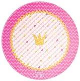 Prinzessin Lillifee Kinderteppich Weich und Soft für Mädchen, Krone, Größe Ø100 cm Rund, Farbe Pink, Öko-Tex zertifiziert für Kinderzimmer und Babyzimmer