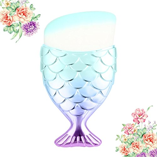 kalorywee Beauty New Arrival bunt Haar Regenbogen Farbverlauf Mermaid Foundation Puder Pinsel Brush...