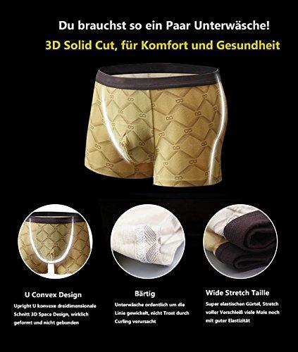 VENI MASEE® Sexy Modal Atmungsaktive Herren Boxer Shorts Unterwäsche Trunks Mehrfarbig09