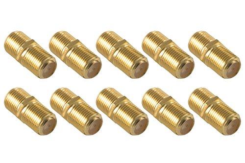 Poppstar 10x giunti elastici SAT coassiali per 4 cavi coassiali da 82 con presa F) prese connettori per cavi coassiali antenna placcati oro