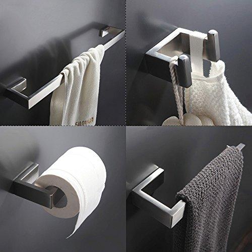304 Edelstahl Nickel Gebürstet Wandhalterung Bad-Hardware-Sets, Handtuchhalter, Kleiderhaken, Papierhalter, - Hardware-messing Bad