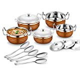 #9: Classic Essentials  Stainless Steel Handi Set, 10-Pieces, Copper