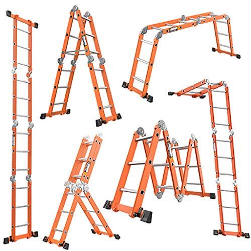 Multifunktion Zusammenlegbar Leiter,multi-purpose Treppenleiter Portable Zusammenlegbar Aluminium-legierung Leiter Ausfahrbare Schritt Leiter-2c5.0mm 4.7m (Portable Storage-schuppen)
