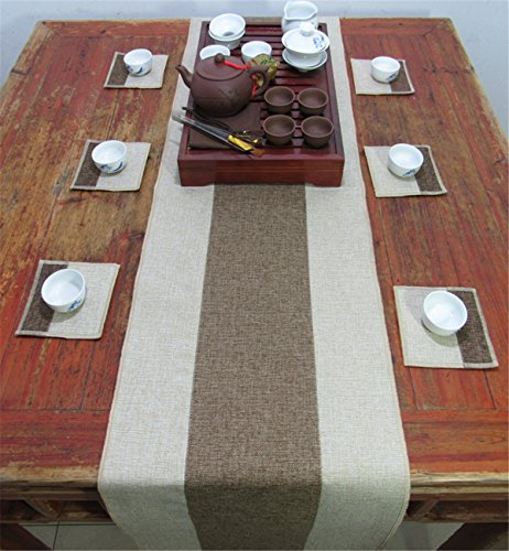 Leinen Tischläufer Hochzeit Tischband ,abwaschbar (Farbe wählbar),Meterware,Tischwäsche,stoffähnliches Vlies, Party, Catering , Vereinsfeier ,Geburtstag ()