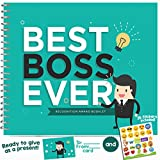 BEST BOSS APPRECIATION GIFT - Recognition Award Booklet - Cool Ideas For The Boss in the Office! Gifts For Worlds Best Female or Male Boss, Manager or Coworker