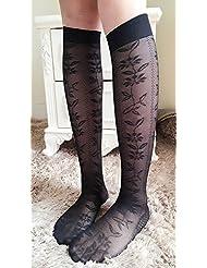 QER-MEDIAS,medias de compresion La mitad de la pantorrilla en negro calcetines y medias medias, secc. C.