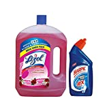 #10: Lizol Disenfectant Surface Cleaner 2L Floral with Harpic 500ml Free