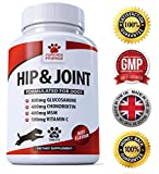 Furever Friendz Advanced Hip And Joint Support - Glucosamine Chondroitin MSM For Dogs – Chewable Food Supplement With Vitamins C & E – Pain Relief Medicine Treats – Beef Flavour Tablets