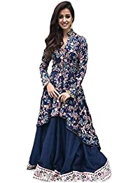 Sarees Creation Women's Silk Dress Material (Dresses For Girls__Free Size)