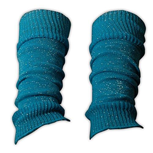 Boland 1 Paar Stulpen für Kinder in Neonfarben und Glitzer Tanzstulpen Sport