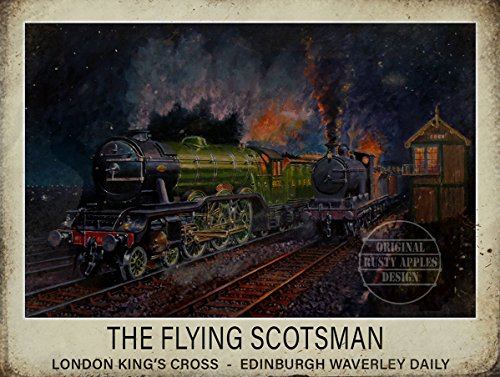 Die Rostigen Äpfel Metal Sign Co Flying Scotsman london-edinburgh Travel Metall Poster Schild -