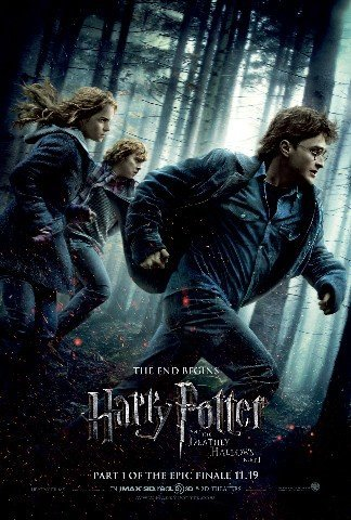 Click for larger image of HARRY POTTER AND THE DEATHLY HALLOWS REPRODUCTION FILM POSTER 16X12'