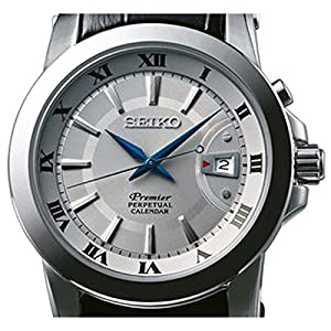 Seiko Premier Perpetual Calendar - Reloj de cuarzo para hombre, correa de cuero color negro por Seiko