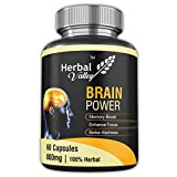 #4: HerbalValley Brain Power 60 Capsules | 7 Herbal Ingredients for better Memory | Mental Clarity | Focus and Concentration | Brahmi | Shankpushpi | DHA (Pack of 1)