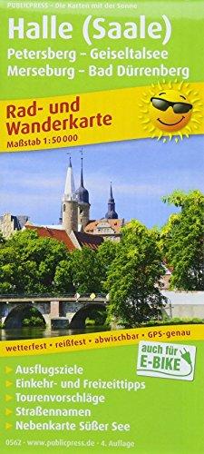 Halle (Saale) - Petersberg - Geiseltalsee - Merseburg - Bad Dürrenberg: Rad- und Wanderkarte mit Nebenkarte Süßer See, Ausflugszielen, Einkehr- & ... 1:50000 (Rad- und Wanderkarte / RuWK)