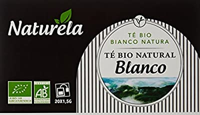 NATURELA Thé Blanc Nature Bio 30 g - Pack de 12