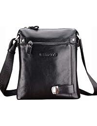 81c7962eb4 Teemzone Men's Genuine Top Leather Messenger Shoulder School Bag Cross Body  3 Colors