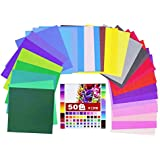 AsianHobbyCrafts Multicolor Origami Paper : Pack Of 50 Sheets : Size 200 X 200 Mm : For Origami, Scrapbooking, Hobby Crafts, Project Work Etc.