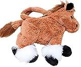 Inware 6368 - Kinder Handtasche Pferd, braun, 25 cm, Umhängetasche