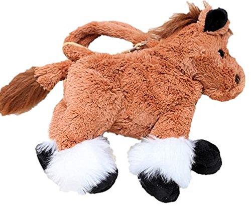Preisvergleich Produktbild Inware 6368 - Kinder Handtasche Pferd,  braun,  25 cm,  Umhängetasche