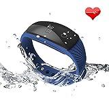 Fitness Tracker, Riversong NEU-VERSION Bluetooth Smart-Sync-Armband, Fitnessarmband Pedometer mit Tageszielen, Herzfrequenz Heart Rate Monitor , Wecker, Anrufhinweis, Schlafanalyse, Wasserfest