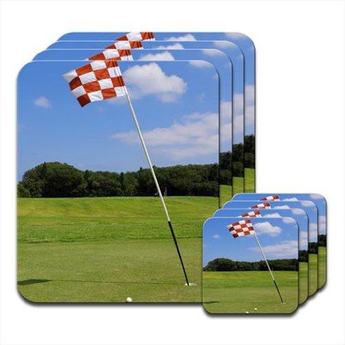 Rosso e Bianco bandiera a scacchi in fase di set di 4tovagliette e (Bandiera A Scacchi Set)