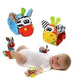 VWH-Tierstil-Infant-Baby-Plschtiere-Rassel-Spielzeug-Armbanduhr-fr-0-12-Monate-Baby