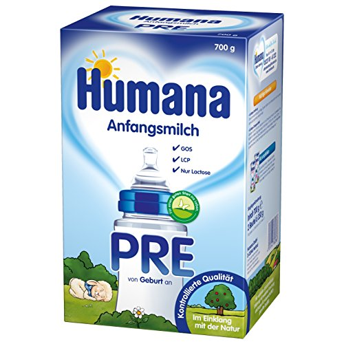 Humana Anfangsmilch Pre mit LCP und GOS, 1er Pack (1 x 700 g)