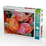 CALVENDO Puzzle Ranunkeln und Papageientulpen 1000 Teile Lege-Größe 48 x 64 cm Foto-Puzzle Bild von Gisela Kruse