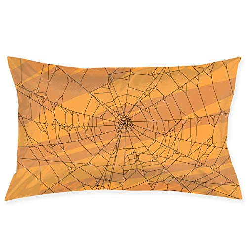 fujianshen Throw Pillow Covers Spider Web Art Illustration Pillowcase, Rectangle Zippered Pillow Cases - Pillow Protector Cover Case - Standard Size 20