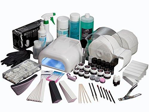 Premium Nagelstudio Starterset komplett für UV Gel-Nägel mit UV-Lampe im Set B3