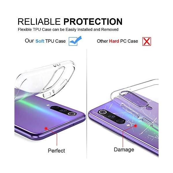 Oihxse Funda Xiaomi Redmi 7A, Ultra Delgado Transparente TPU Silicona Case Suave Claro Elegante Creativa Patrón Bumper… 5