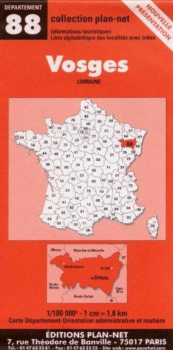 Carte routière : Vosges