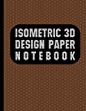 Isometric Paper Notebook: Brown cover
