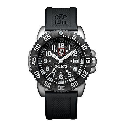 Luminox-Navy-SEAL-Steel-Colormark-Mens-Quartz-watch-with-Black-dial-featuring-LLT-Luminox-light-Technology-44-millimeters-Stainless-Steel-case-and-Black-PU-Strap-XS3151NV