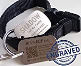 #6: MyICETag Steel CUSTOM ENGRAVED Plus SMART Dog Tag Helps Protect Your Pet from Getting Lost - No Electronics, Batteries and Web/GPS Enabled - Scan With Any Smart Phone for Full Medical Info