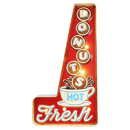 'Enseigne Lumineuse de Collection, idéal pour Bar, modèle Donuts Hot Fresh, Mesure cm 27 x 51H