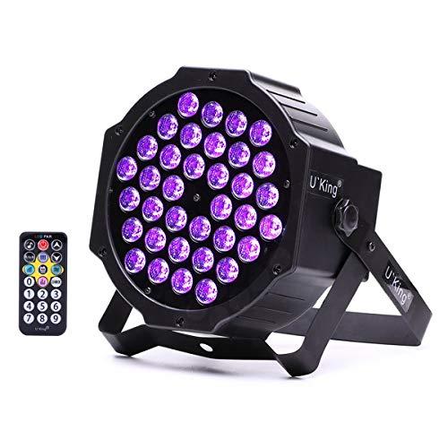 UKing Luces Negras UV, 36W LED Etapa Luz Par con 5 Modos de Control y Control Remoto para Show Party...