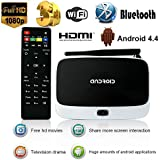 YUNTAB Mini Smart tv box CS918 Fully Loaded Streaming Media Player , Google Android 4.4 Quad core RK3188 2GB + 8GB, WLAN/External Wifi Antenna Ethernet Port with XBMC/ Kodi Add-Ons ( UK 3 pin Plug)