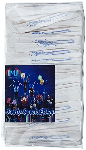 IMS Party 302538 Zahnstocher, einzeln gehüllt in Papier, 2x 65  mm, 1000 Stück/Box