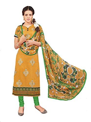 Salwar Suits for Women Designer Chanderi Cotton Salwar Kameez Unstitched Casual Wear...