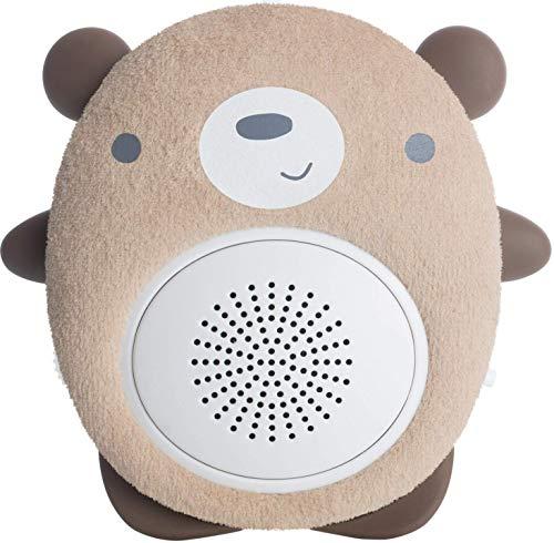 SoundBub de WavHello Haut-Parleur Relaxant pour le Sommeil de Bébé | Diffuseur de Bruit Blanc Bluetooth | Compagnon Idéal pour le Repos du Nouveau-Né | Portable, Rechargeable | Benji l'Ours, Brun