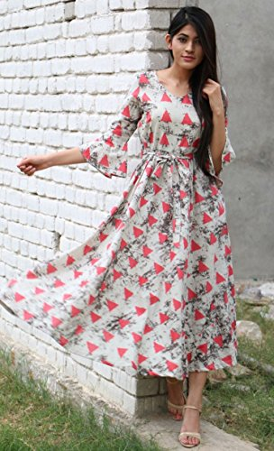 17b28adb2660e 87% OFF on Royal Export Women's Cotton Printed Party Wear Dress on Amazon |  PaisaWapas.com