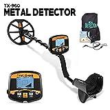 HOOMYA Detector de Metales Posicionamiento Preciso de Alta Sensibilidad Detección Profesional con Pantalla LCD Retroiluminada y Bobina de Búsqueda Impermeable-TX960